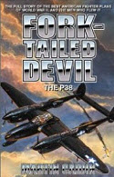 Current hardback cover reprint of Martin Caidin's book, The Forked Tail Devil The P-38 on Amazon.com.