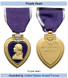 Purple Heart Front and Back