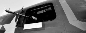 The B-24 Lib Waist Gunner Window.